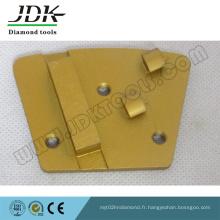 Plaque de meulage trapézoïdale à 2 points PCD + Diamond Segment