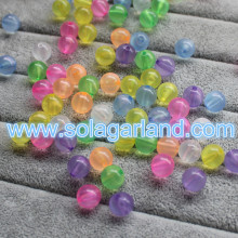 10MM Mix Color Acrylic Round Spacer Beads Charms Plastic Bracelet Beads