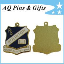 Insigne de médaille en métal miniature avec cloison douce (insigne-223)