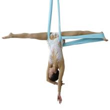 JW Colorful Gym nylon yoga swing Aerial Yoga Fitness Hammock aerial Customer logo yoga pilates hammock