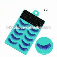 Good quality Strip false blue eyelashes blue box eyelashes
