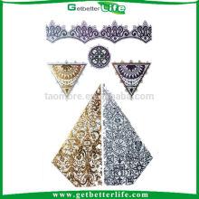 Getbetterife king design colorful metallic flash tattoo sticker