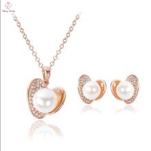 2017 último diseño pendiente de perla de oro Set