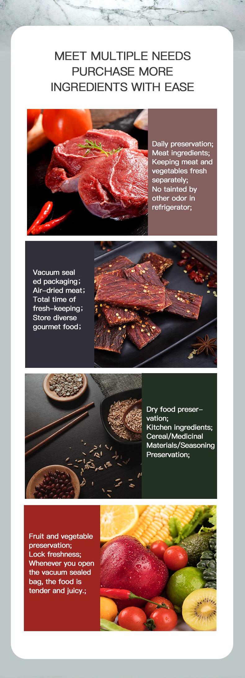 Food Vacuum Sealer Vegetables