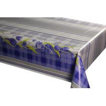 Nappes Fleurs Symétriques Bleu Treillis