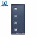 Fangda surface blue 4 lite glass painted contemporary security doors