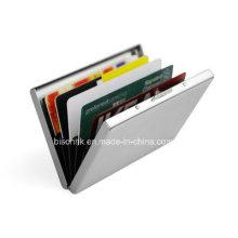 Portefeuille de carte de crédit en métal avec fermeture