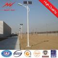 Farola solar galvanizada brazo doble de los 10m poste