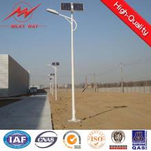 10m pólo solar galvanizado braço de iluminação de rua dupla