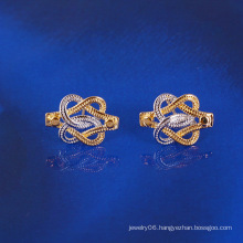 Multicolor Plated Cross Fashion Stud Earring (23797)