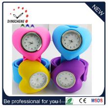 Montre-bracelet imperméable de claque de silicone d'enfants d'enfants (DC-087)