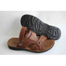 Good Quality of Men′s Beach Shoes with Leather Upper (SNB-14-013)