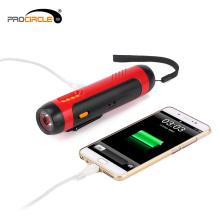 Sicherheit FM Radio wiederaufladbare USB-Taschenlampe