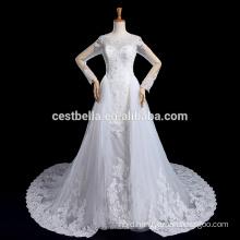 Vestido De Noiva Long Sleeve Lace Wedding Dress with Long Tail Luxury Robe De Marriage Marriee