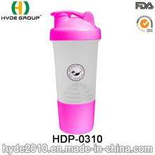 2016 neu PP BPA freiem Kunststoff Protein Shaker Flasche (HDP-0310)