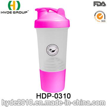 2016 recién PP BPA gratis botella de la coctelera del plástico de la proteína (HDP-0310)