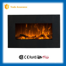 "36"" wall mounted imitation fire log wood fireplace with optional base"