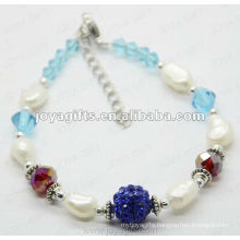 2014 new Pearl Anklet Fashion 2012 Joya Shamballa Ball Anklet