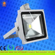 CE / RoHS / SAA / preuve d'eau / 30W LED lumière d'inondation avec détecteur de mouvement