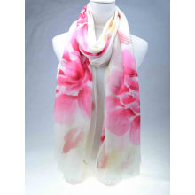 Hand Painted 200s/2, Merino Wool Scarf (13-BR-382302-1.1)