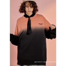 Sweat-shirt à capuche à couture décontractée pour fille