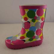 Polka Dot bambini stampa gomma Rainboots
