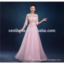 High quality fashion elegant 3 colors long lace evening dresses suit slim fit formal woman wear