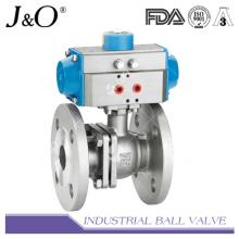 Válvula de bola de 2 pines con brida con soporte de montaje directo DIN Pn16 Pn40