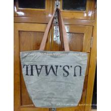 Taschenbeutel mit Ledergriff