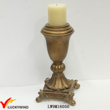 Hand Painted Antique Votive Golden Candle Holder