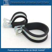 10-168mm EPDM Bonded Steel Pipe Clamps