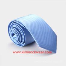 Cravate 100% tissée à la main en polyester tissé pour garçons