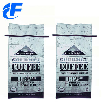 High Quality Bottom Gussest Coffee Bags With Valve