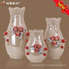 Vase en céramique sur-glacé de haute qualité pour ornements maison