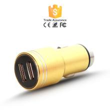 Hottest venda carregador de carro dual USB colorido 2.1A saída 2.4A para o iPhone 6, 2 promocionais carregador de carro USB
