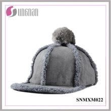 2015 douces filles Hiphop chapeau en peluche boule de fourrure plat Cap (SNMXM022)