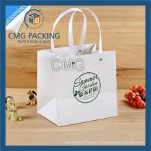 Rivet poignée papier sac avec poignée en plastique (CMG-MAY-042)