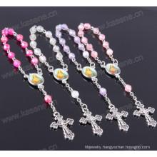 6mm Religious Plastic Rainbow Beads One Decade Rosary
