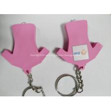 Led schlüsselanhänger / pvc schlüsselanhänger mit led