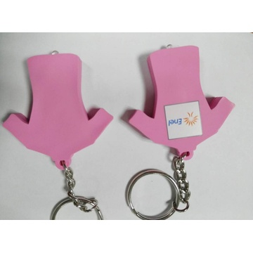 Led key chain /pvc key chain with led