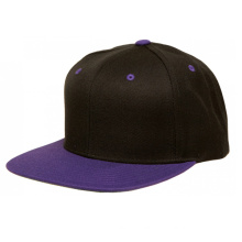 Custom Black Two Tone Fashion Flat Brim Snapback Cap