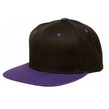 Custom Black Two Tone Fashion Flat Brim Snapback Cap