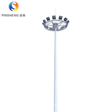 Galvanized high mast light pole with automatic lifting system
