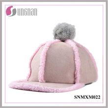 2015 Niftic dames Hiphop chapeau en peluche fourrure boule à capuchon plat (SNMXM022)
