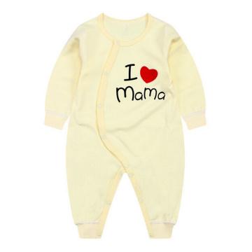 I Love Mama Printing Baby Romper