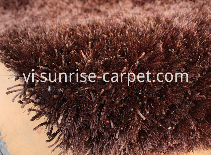 Polyester Mixed Shaggy Rug Brown Color
