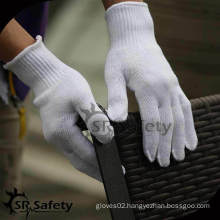 SRSAFETY 2015 on sale factory price cotton knitted gloves white cotton packing gloves