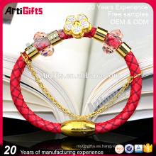 La pulsera más nueva del encanto del cuero de la joyería de las mujeres de la manera