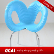 2014 new design irregular colored plastic chairs
