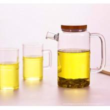 Olla de vidrio de té de vaso de borosilicato alto